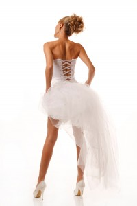 Bridal dress from the back
